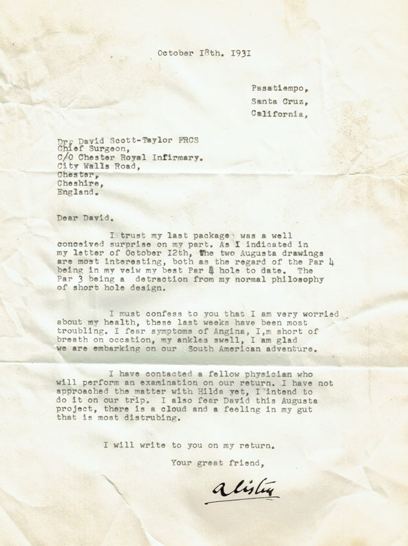 Augusta National Letter