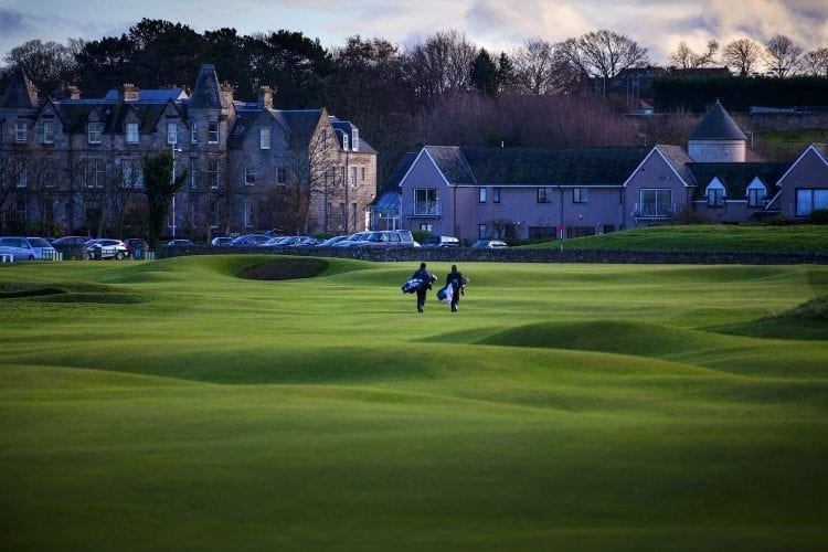 18th green of the Old Course in St. Andrews