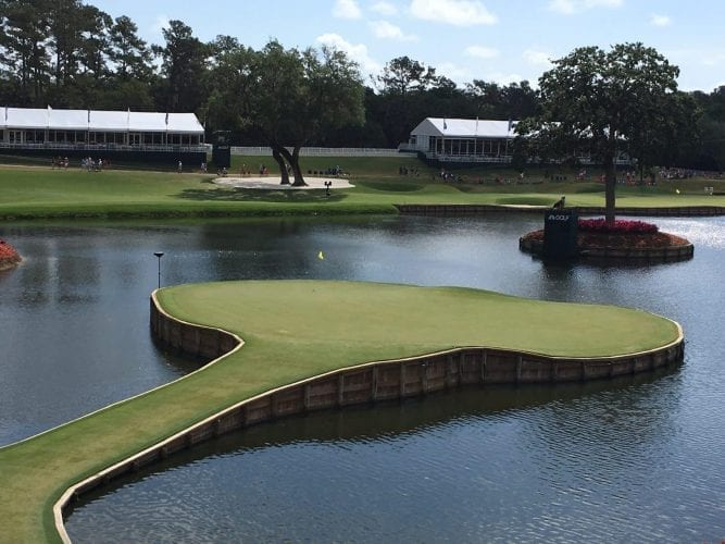 69 Balls Find The Water on 17 At TPC Sawgrass