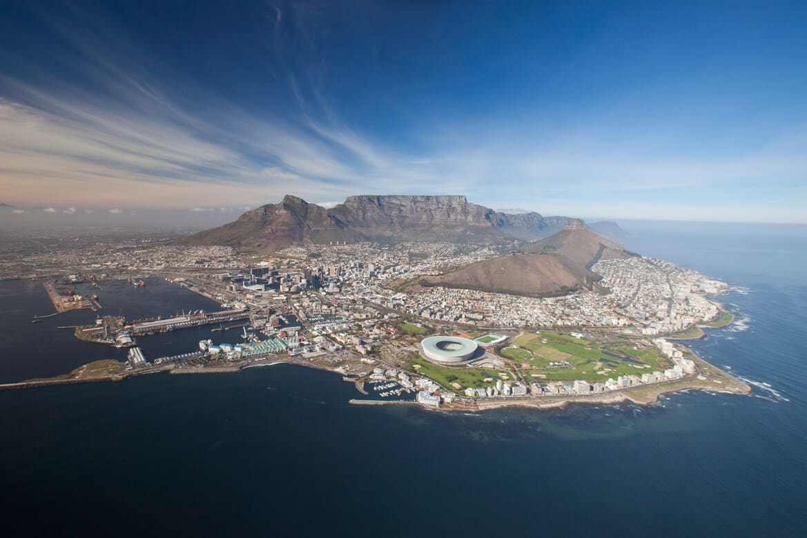 Aerial photography cape town
