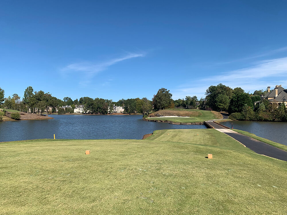 The 2nd hole on Meadows at the renovated TPC Sugarloaf designed by Greg Norman