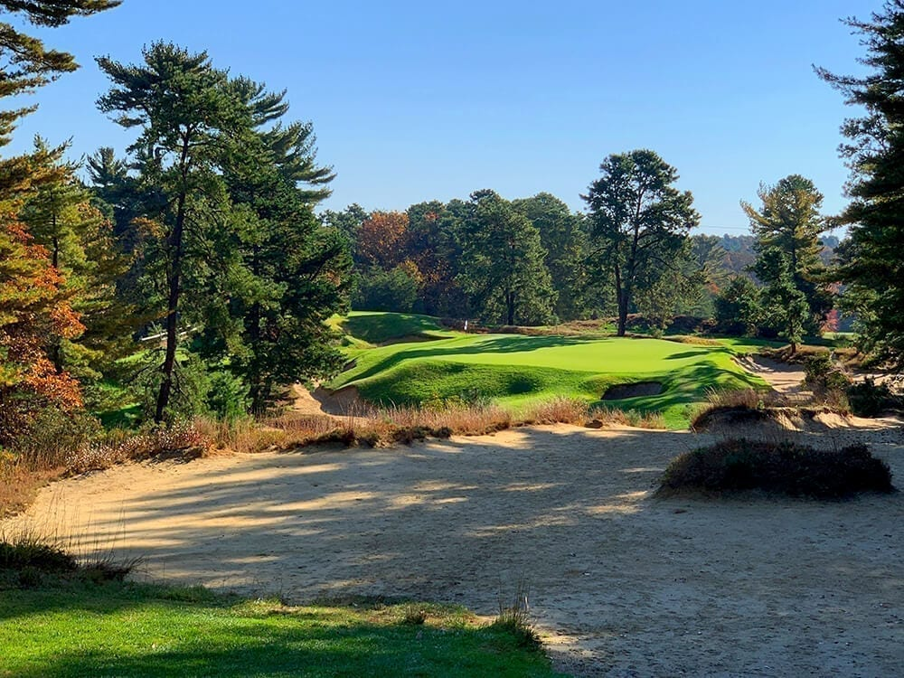 The 10th hole at Pine Valley