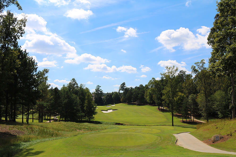 The 1st hole on Pines at the renovated TPC Sugarloaf designed by Greg Norman