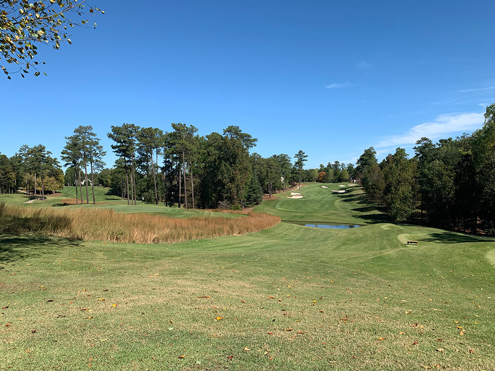 The 5th hole on Pines at the renovated TPC Sugarloaf designed by Greg Norman